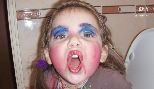 Evil Makeup-wearing Girl