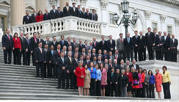 Why do the ladies get to stand in front? Misandry!