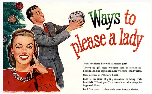 Woman: Always wanting men to buy them toasters -- or steal them!