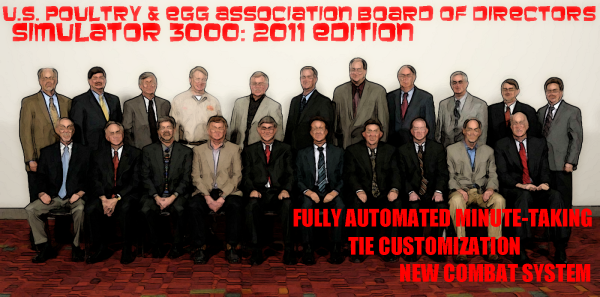 If you want historically accurate male-on-male combat action, the U.S. Poultry & Egg Association Board of Directors Simulator 3000: 2011 Edition is the way to go