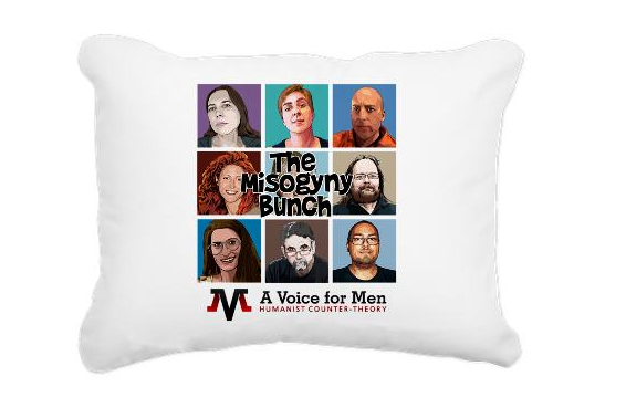 You can buy your own Misogyny Bunch pillow for only $19.19 at the A Voice for Men store.