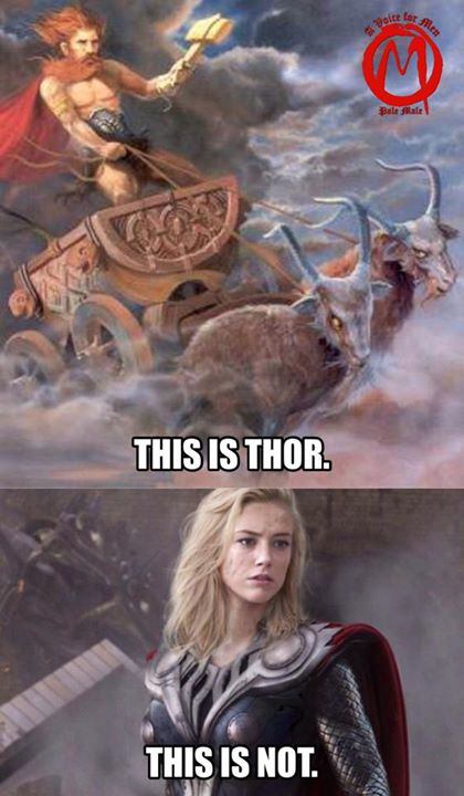 Yeah, because Marvel's male version of Thor was exactly what the ancient Norse people would have wanted.