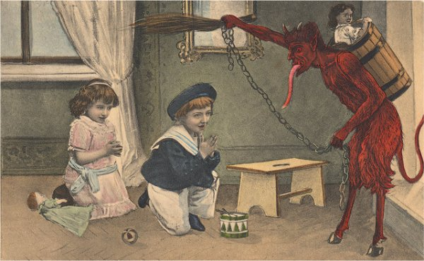 Krampus, like a lot of GamerGaters, is kind of a dick.