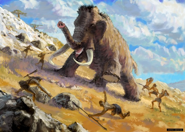 This mammoth fights back!