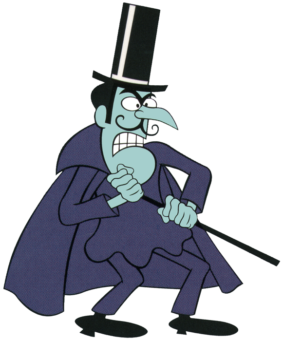 Snidely Whiplash, actual cartoon villain