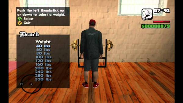 No, weightifting in Grand Theft Auto doesn't count.