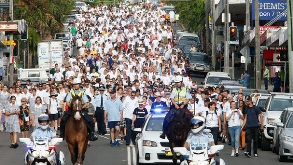 Sydney's White Ribbon Day walk this year
