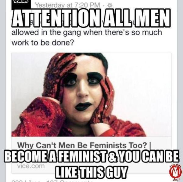 Policing male sexuxality: a meme from A Voice for Men's Facebook page.