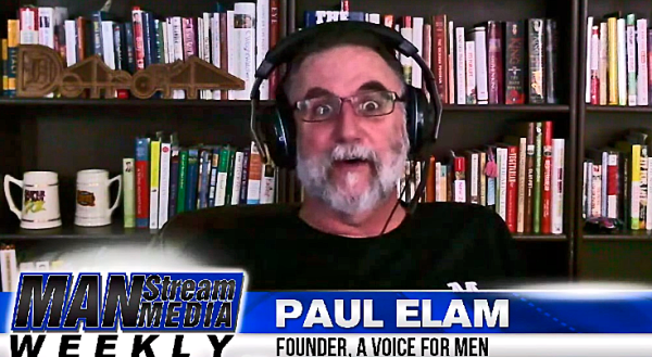 Paul Elam quite literally in the middle of explaining how the media treats him so unfairly.
