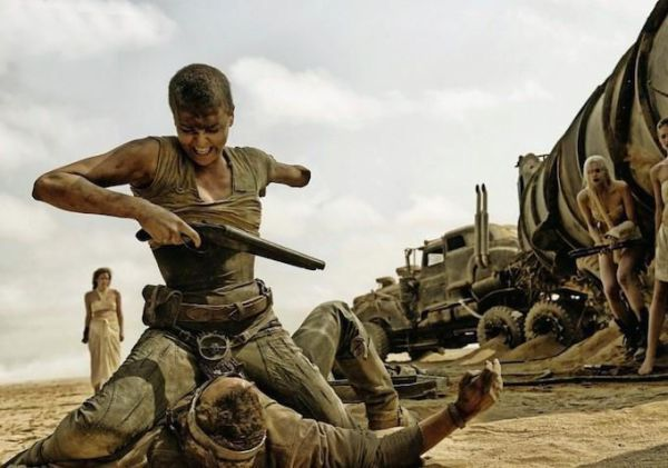 Charlize Theron committing misandries in Mad Max Fury Road