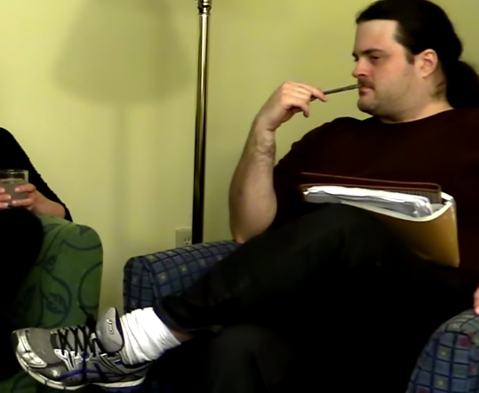 Jordan Owen, interviewing his shoe